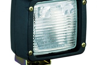 HELLA® - Black Ultra Beam Square Close Range Halogen Work Lamp with Clear Lens