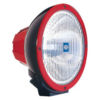 HELLA® - 4000 Black Halogen Euro Beam Light with Red Accent Ring