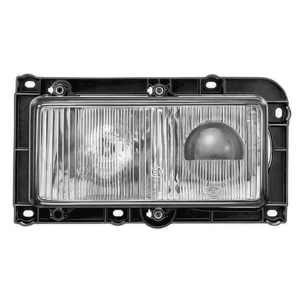 "HELLA® - 7872 High/Low Beam 9.7""x4.6"" Rectangle Driver Side 24V-70W Projector Headlights"