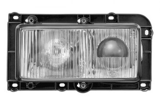 "HELLA® - 7872 High/Low Beam 24V-70W Rectangle 9.7""x4.6"" Projector Headlights with Clear Lens"