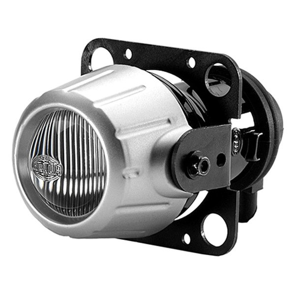 HELLA® - Micro DE Premium 12V-55W Round Modular Fog Lights with Clear Lens, Fixed Mounting