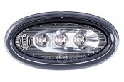 HELLA® - Oval LED Side Marker Lamp Set with Silver Reflector