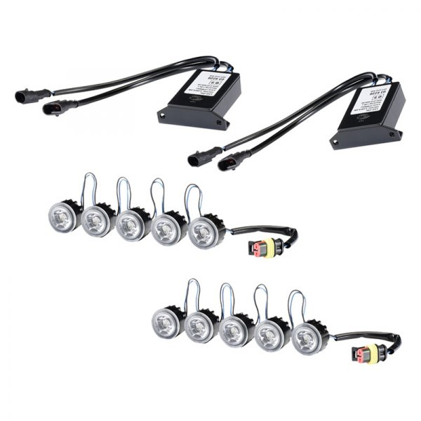 HELLA® - LED Flex Driver and Passenger Side Day Running Light Kit