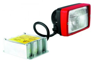 HELLA® - Picador Black 12V-35W Close Range Rectangle Xenon Work Lamp with Glass Lens and Red Bezel