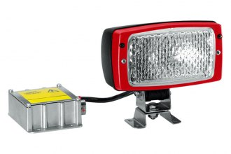 HELLA® - Module 6213 Close Range Rectangle Xenon Work Lamp with Red Bezel