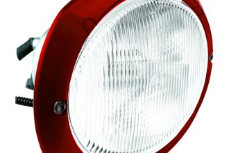 HELLA® - Oval 120 Red 12V-35W Mid Range Xenon Work Lamp with Clear Lens