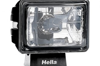 HELLA® - Micro FF Black Rectangle Fog Lights with Clear Lens