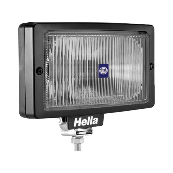 HELLA® - Jumbo 220 Black Rectangle Fog Lights with Clear Lens