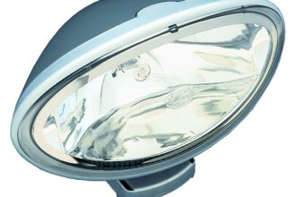 HELLA® - FF 100 Gray Oval Fog Lights Kit with Clear Lens
