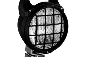 HELLA® - Matador Black Close Range Round Halogen Work Lamp with Glass Lens