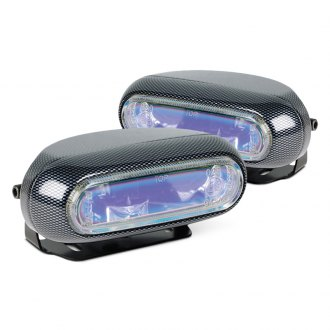 Hella® - 1250 Optilux™ Rectangular Blue Fog Lights