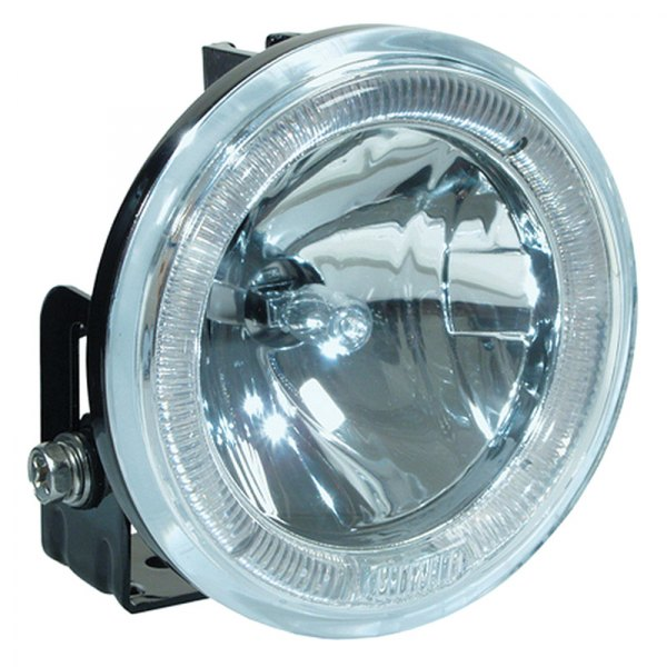 HELLA® - Model 2500 Optilux™ 12V-55W Round Angel Eye Driving Lights Kit with Clear Lens
