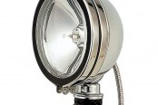 HELLA® - Model 1900 Optilux™ Chrome Steel Round Halogen Driving Lights Kit with Clear Lens
