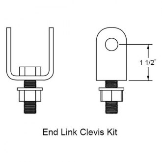 Hellwig® - Adjustable End Link Clevis Mouting Kit