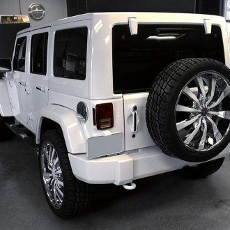 HELO® - HE875 Chrome with Gloss White Inserts on Jeep Wrangler