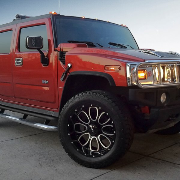 HELO® - HE879 Gloss Black with Milled Accents on Hummer H2