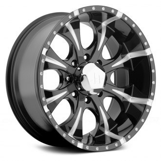 HELO® - HE791 8 SPOKES Gloss Black with Milled Accents