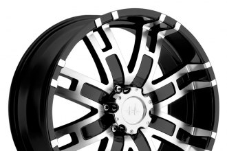 "HELO® - HE835 Gloss Black with Machined Face (18"" x 9"", +18 Offset, 6x139.7 Bolt Pattern, 106.25mm Hub)"