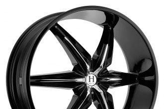"HELO® - HE866 Gloss Black with Chrome Inserts (22"" x 9.5"", +10 Offset, 5x135 Bolt Pattern, 87.1mm Hub)"