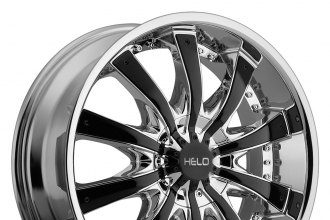 "HELO® - HE875 Chrome with Gloss Black Inserts (20"" x 8.5"", +38 Offset, 5x114.3 Bolt Pattern, 72.6mm Hub)"