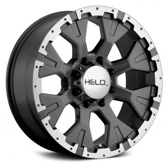 HELO® - HE878 Dark Silver with Machined Face