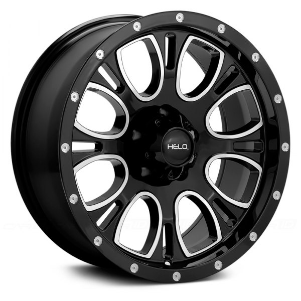 HELO® - HE879 Gloss Black with Milled Accents