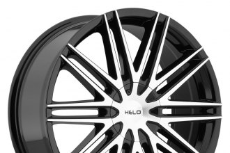 "HELO® - HE880 GLOSS BLACK WITH MACHINED FACE (17"" x 7.5"", +42 Offset, 5x100-127 Bolt Patterns, 110.5mm Hub)"