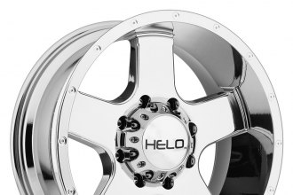 "HELO® - HE886 Bright PVD (20"" x 9"", 0 Offset, 8x165.1 Bolt Pattern, 125.5mm Hub)"