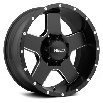 HELO® - HE886 Satin Black with Milled Accents