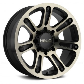 HELO® - HE904 Satin Black with Machined Face and Tinted Clear Coat