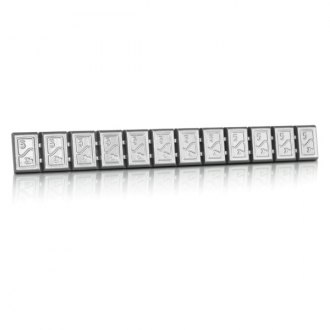Hofmann® - 380 Type Zinc Adhesive Weights Strip (Silver)