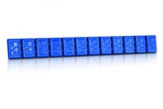 Hofmann® - 380 Type Zinc Adhesive Weights Strip (Blue)