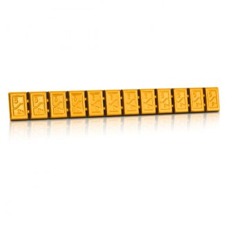 Hofmann® - 380 Type Zinc Adhesive Weights Strip (Orange)
