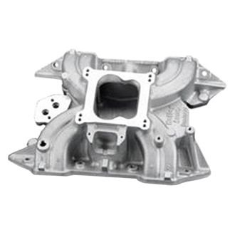 Holley® - Strip Dominator Low Rise Satin Carbureted Cast Single Plane Intake Manifold