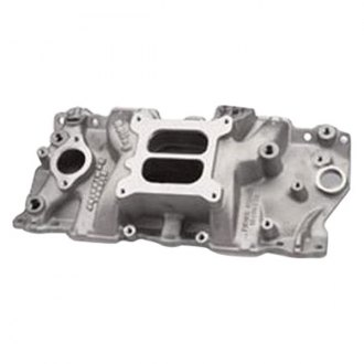 Holley® - Strip Dominator Low Rise Satin Carbureted Cast Dual Plane Intake Manifold
