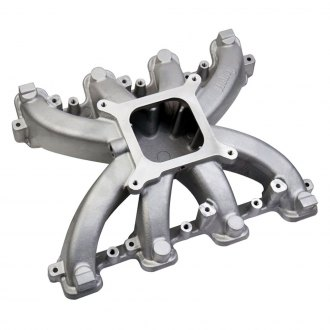 Holley® - Mid Rise Carbureted Cast Single Plane Intake Manifold with Cathedral Ports