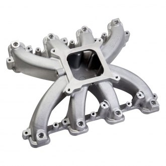 Holley® - Mid Rise EFI Cast Single Plane Intake Manifold with Cathedral Ports