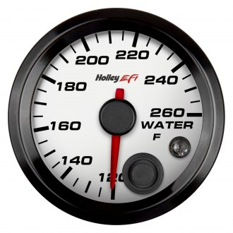 "Holley® - 2-1/16"" White Coolant Temp Gauge"