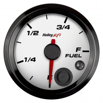 "Holley® - 2-1/16"" White Fuel Level Gauge"