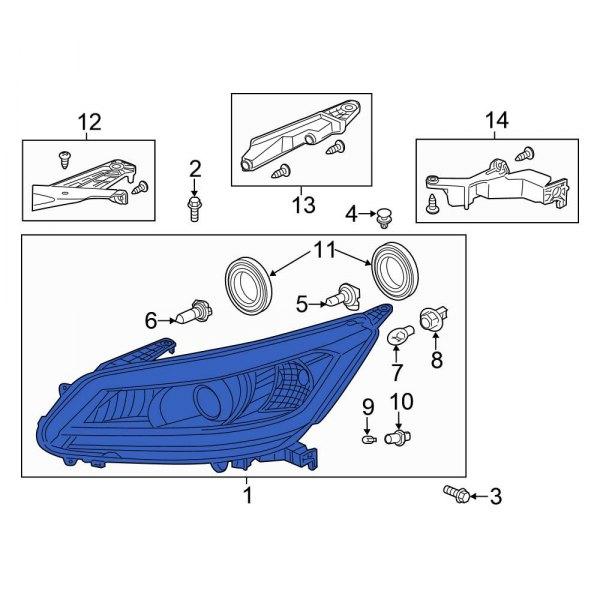 Genuine Honda 33150-T3W-A01 Headlight Assembly