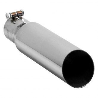 Hooker® - Large Bore Round Bolt-On Chrome Exhaust Tip