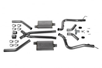 Hooker® - Dual Competition™ Stainless Steel Header-Back Exhaust System Kit