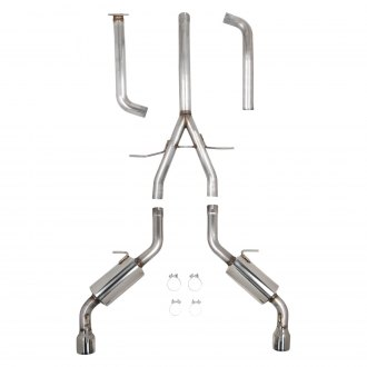 Hooker® - BlackHeart™ 304 SS Cat-Back Exhaust System with Split Rear Exit