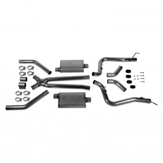 Hooker® - BlackHeart™ Stainless Steel Header-Back Exhaust System with Split Rear Exit