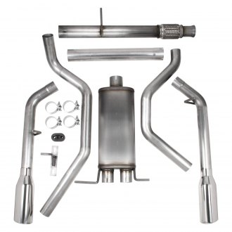 Hooker® - BlackHeart™ Stainless Steel Cat-Back Exhaust System with Split Rear Exit