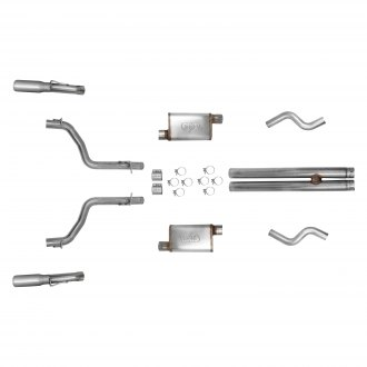Hooker® - BlackHeart™ Stainless Steel Race Header-Back Exhaust System with Split Rear Exit