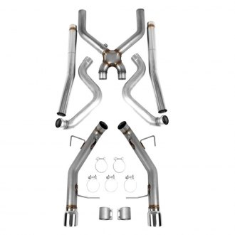 Hooker® - BlackHeart™ 304 SS Header-Back Exhaust System
