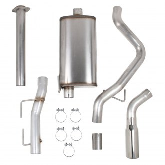 Hooker® - BlackHeart™ 409 SS Cat-Back Exhaust System with Single Exit