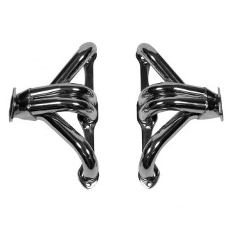 Hooker® - Super Competition™ Stainless Steel Polished Short Tube Block Hugger Exhaust Headers