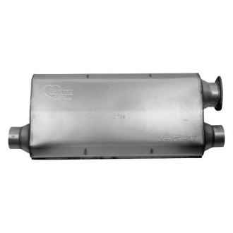 "Hooker® - Aero Chamber™ Muffler (Single 3"" Inlet. Dual 2.5"" Outlets)"